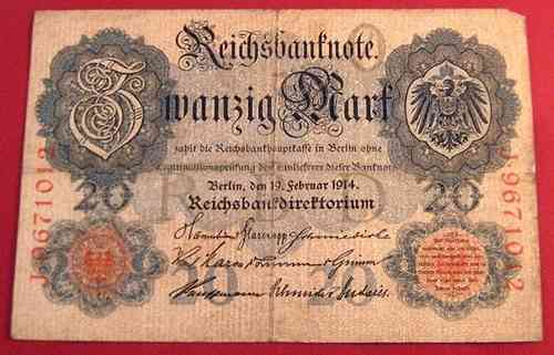 Reichsbanknote 20 Mark 1914