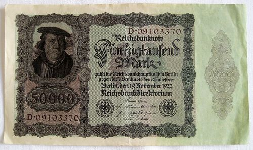 Reichsbanknote 50.000 Mark 1922