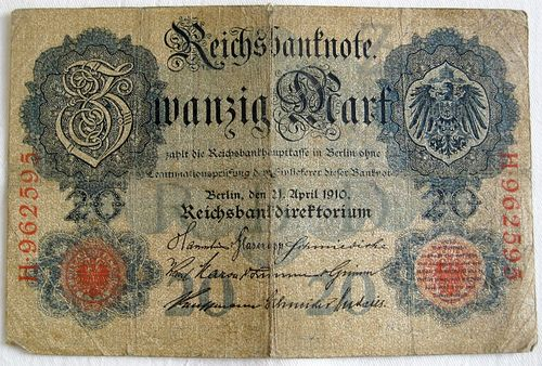 Reichsbanknote 20 Mark 1910