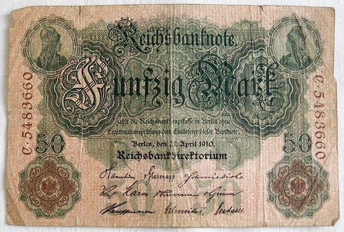 Reichsbanknote 50 Mark 1910