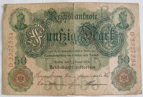 Reichsbanknote 50 Mark 1908