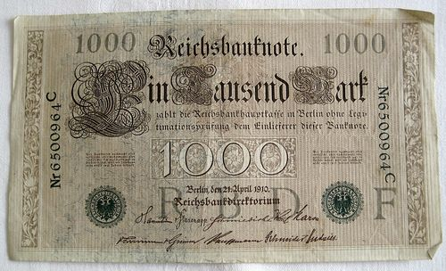 Reichsbanknote 1000 Mark 1910