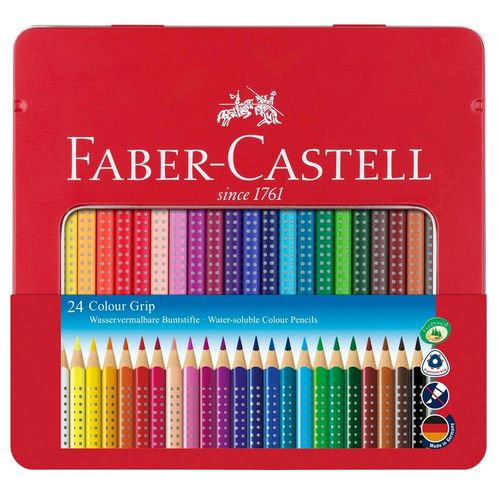 Buntstifte FABER-CASTELL Colour Grip 24er Metalletui